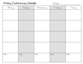 Writing Conferences Planner