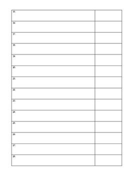 Writing Conferring Data Sheet