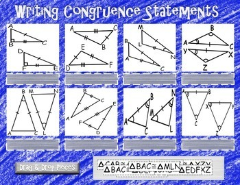 Writing Congruence Statements for Triangles~ Google Drive Interactive Activity