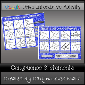 Writing Congruence Statements for Triangles~ Google Drive