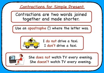 Writing Contractions in the Simple Present & Verb 'to Be'