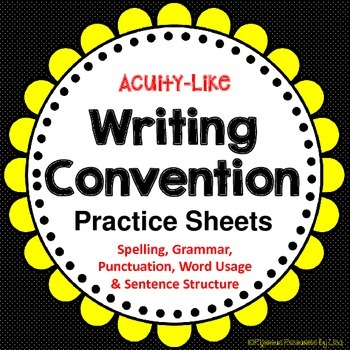 Writing Conventions Practice Sheets