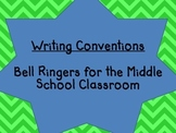 Writing Conventions Bell Ringers -Includes Answer Key and Notes