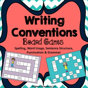 Writing Conventions Board Game