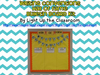 Writing Conventions Bulletin Board