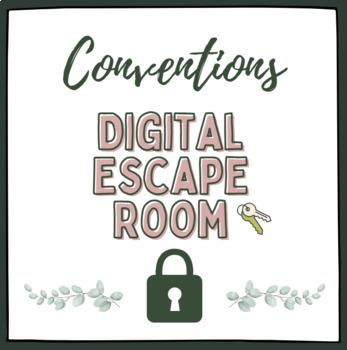Writing Conventions Escape Room -  MS/HS ELA