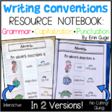 Writing Conventions Notebook: Grammar, Capitalization, Punctuation (2 Versions!)