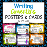 Writing Conventions Posters and Cards: Grammar, Capitalization, Punctuation