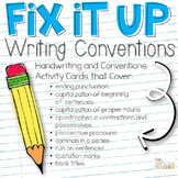 Writing Conventions Activity