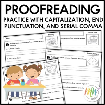 Writing Conventions Proofreading for First Grade