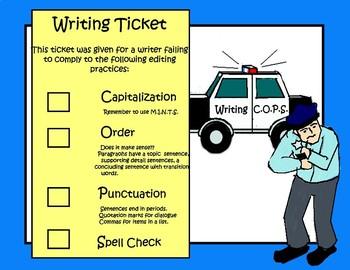Writing Cops Writing Strategies Set