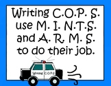 Writing Cops Writing Strategies Set