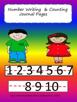 Writing & Counting Journal Starter Pages