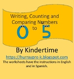 Writing,Counting and Comparing Numbers 0-5