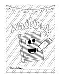 Writing Cover Coloring Page for Notebook