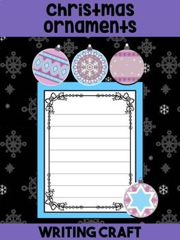 Writing Craft : Christmas Ornaments - Jackie's Crafts, Winter Activities
