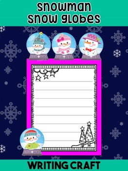 Writing Craft : Snowman Snow globes - Jackie's Crafts, Winter and Christmas