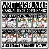 Seasonal Writing Prompts 3rd Grade, 4th Grade Fall Writing Thanksgiving Bulletin