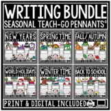 Writing Prompts 3rd & 4th Grade End of Year Bulletin Board- Writing Craftivities