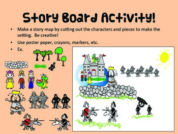 Writing Craftivity with Storyboard and Story Map: Davy the Dragon Saves the Day!