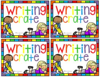 Writing Crates Freebie