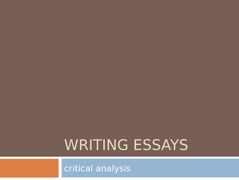 Writing Critical Analysis Essays