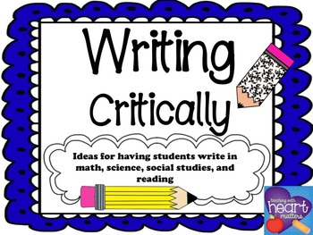 Writing Critically in the Content Areas