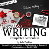 Writing Curriculum, Narrative, Explanatory, Argumentative, Research BUNDLE