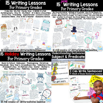 Writing Curriculum for Primary Grades: Year Long