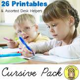 Writing Cursive Pack for Handwriting Practice