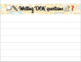 Writing DOK questions template