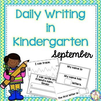 Kindergarten Writing ~ September