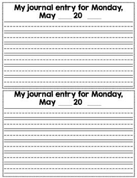 Kindergarten Writing ~ May