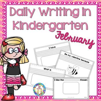 Kindergarten Writing ~ February