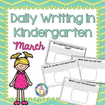 Kindergarten Writing ~ March