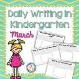 Kindergarten Writing  March