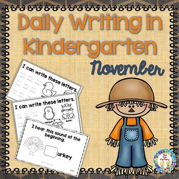 Kindergarten Writing ~ November