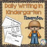 Kindergarten Writing  November