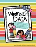Writing Data & Assessment Tracking Notebook, Grade K, CCSS