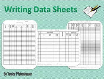 Writing Data Sheets
