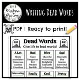 Writing Dead Words! Ready to Print!