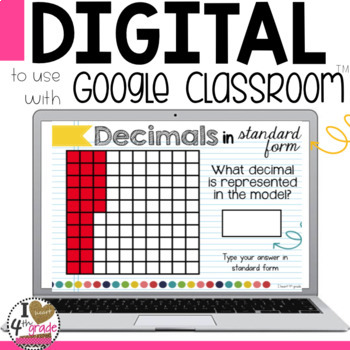 Writing Decimals Digital Task Cards for Google Classroom