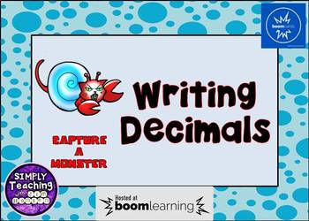 Writing Decimals in Standard From Digital Task Cards Word Form Unit Form
