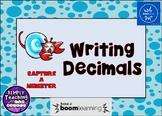 Writing Decimals in Standard Form Digital Task Cards Word Form Unit Form