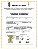 Writing Decimals {tenths and hundredths}