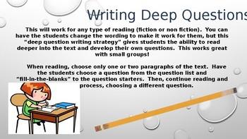 Writing/Deep Questioning