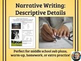 Writing Descriptive Details Activity