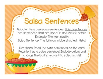 Writing Descriptive Sentences - Salsa Sentences