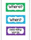 """Writing Detailed Sentences Using  """"WHO?"""" """"DID WHAT?"""" """"WHEN?"""" """"WHERE?"""""""