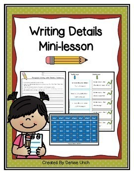 Writing Details/ Writing Paragraphs (For All- Even Special Education and ESL!)